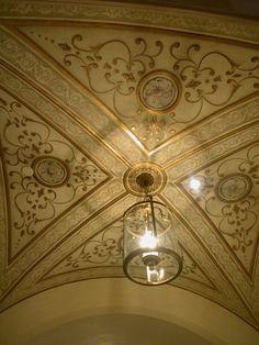 Giovannetti Decorative Studio Metallic Plaster Ceiling