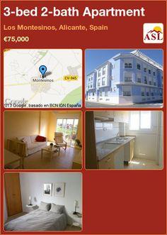 3-bed 2-bath Apartment in Los Montesinos, Alicante, Spain ►€75,000 #PropertyForSaleInSpain