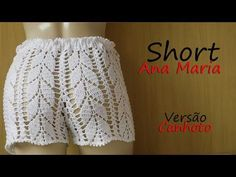 Crochet Patterns Romper Short Ana Maria (P) Crochet Romper, Bikinis Crochet, Crochet Pants, Crochet Skirts, Crochet Bikini Top, Crochet Clothes, Knit Crochet, Short Tejidos, Skirt Pattern Free