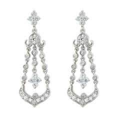 Chandelier Earrings with Closed Bottom