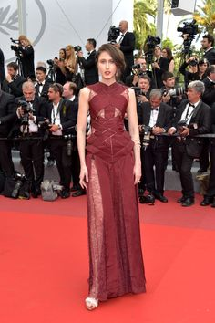 """Anna Cleveland in Jean Paul Gaultier Haute Couture -""""The Killing of a Sacred Deer"""" Premiere - HarpersBAZAAR.com"""