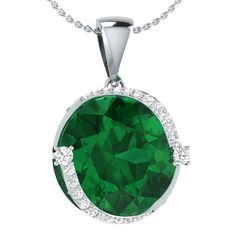 0.35 Ct Simulated Emerald 18K Rose Gold Plated Silver Angel Pendant With Chain