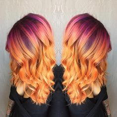 And long sunset hair will make you feel things. | Sunset Hair Is Here And It's Drop Dead Beautiful