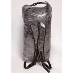 Hyperlite Mountain Gear Stuff Pack, made from Cuben Fiber, waterproof material, 1600 cu. in. volume, weighs only 2.9oz., $60