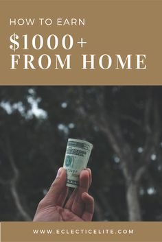 Earning an extra $1000+ consistently can really take the financial burden out of a lot of peoples lives. I discuss the best method for consistently earning good money online - from home!