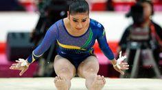 Bruna Leal, da ginástica artística por equipes, no segundo dia dos Jogos de Londres