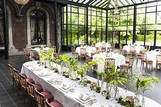 Inspiration mariage vert chlorophylle au château de Bourgogne en Belgique sur Trendy Wedding