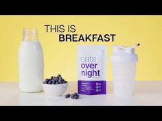 Enjoy the benefits of eating breakfast with none of the work. Overnight oatmeal loaded with superfoods like flax, chia, maca root, and of protein. No recipes needed. Life Is Hard, Make Breakfast Easy. How To Cook Pork, How To Cook Pasta, How To Make Breakfast, Eat Breakfast, Cooking Videos, Cooking Recipes, Dip Recipes, Kolaczki Cookies Recipe, Cooking Courses