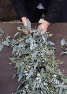 DIY Eucalyptus Table Runner by Nanette Wong