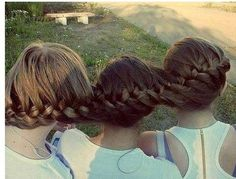 best friends hair braided together - Google Search