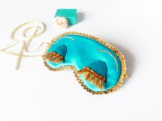 Breakfast at Tiffanys teal blue satin eye sleep mask!  A handmade sleep eye mask made of high quality materials inspiring of Audrey Hepburn Breakfast