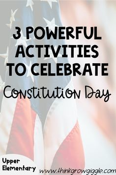Teachers, are you looking for engaging Constitution Day, Teacher Freebies, Read Aloud Books, Social Studies Classroom, Free Teaching Resources, Reading Workshop, Upper Elementary, Activities For Kids
