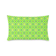 """Vibrant Abstract Tropical Lime Foliage Lattice New Pillow Case Pillow Inner Included 16""""x24"""""""