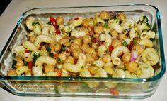 Salada de Macarrão com Grão de Bico