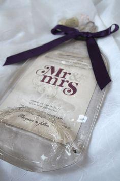 Flattened Wine Bottle with Keepsake Wedding by CreativeChameleon, $30.00