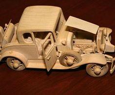 Wooden car Wooden Truck, Wooden Car, Wooden Projects, Wood Crafts, Woodworking Toys, Toy Trucks, Art Furniture, Wood Toys, Art Plastique