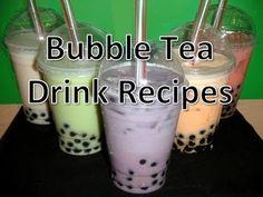 Bubble Tea Drink Recipes (Mango/Coconut/Taro/Papaya/Watermelon) - YouTube with fresh taro root