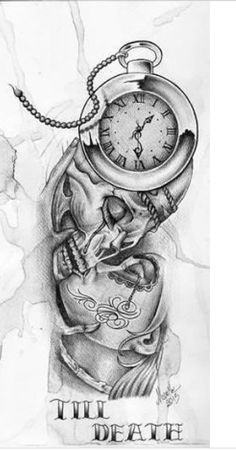 nothing lasts forever - Heather Marie - Yeni Dizi Bull Tattoos, Body Art Tattoos, Sleeve Tattoos, Chicanas Tattoo, Forarm Tattoos, Skull Couple Tattoo, Couple Tattoos, Clock Tattoo Design, Heart Tattoo Designs