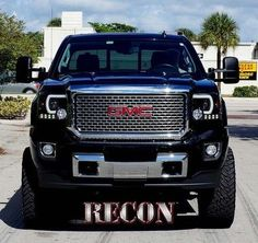 Recon Smoked Projector Headlights with Smooth OLED Technology (14-16 GMC)