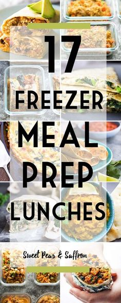 Freezer-friendly meal prep lunch recipes are perfect for those days when you don't have leftovers or anything prepped for lunch. #mealprep #freezerfriendly #freezermeals