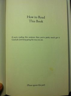 How to read this book