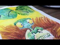 Pintura em Aquarela - Tartaruga Filhote   FRANCIS DE CRISTO   132/365