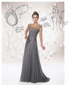 Elegant A-line floor-length- Mothers