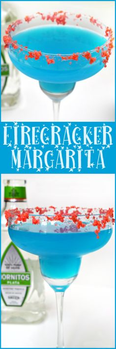 Celebrate the Fourth of July with this delicioius Firecracker Margarita