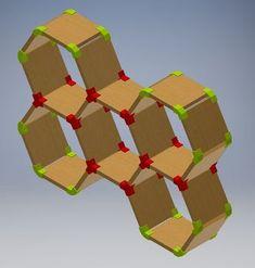 Custom Hexagon Shelves Using Printing: 6 Steps (with Pictures) Autodesk Inventor, 3d Printing Diy, 3d Printer Designs, Hexagon Shelves, Double Stick Tape, Super Glue, Wood Screws, Fun, Prints