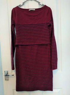 NEW DIPPED HEM BREASTFEEDING NURSING DRESS SIZE 8 10 12 14