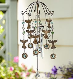 Heavenly Angels Wind Chimes from Angel Wind Chimes, Wind Chimes Craft, Glass Wind Chimes, Crystal Wind Chimes, Angels In Heaven, Heavenly Angels, Surprise Gifts For Him, Wind Spinners, Sympathy Gifts