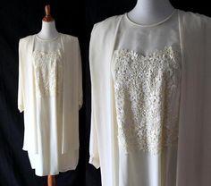 Edwardian 1920s flapper Style Lawn dress Great Gatsby Sz 22W