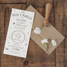 Invitaciones boda Acuarela Campestre – Woowday
