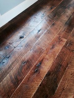 Asphalt On Reclaimed Douglas Fir Wood Floor Pinterest