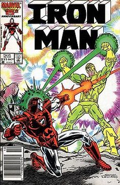 Cover for Iron Man October 1986 Marvel Marvel Comics Superheroes, Marvel Heroes, Marvel Characters, Marvel Art, Iron Man Comic Books, Comic Books Art, Book Art, Comic Book Covers, Comic Book Heroes