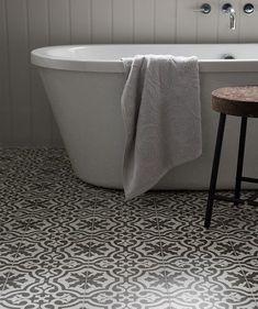 bathroom tile- topps tiles= per tile Attic Bathroom, Family Bathroom, Bathroom Floor Tiles, Small Bathroom, Bathroom Ideas, Barn Bathroom, Bathroom Inspo, Bath Ideas, Bathroom Designs