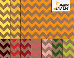 Kraft Paper Chevron Digital Papers - Citrus Themed Colors - Fall Papers - Digital Paper Textures - Scrapbook Paper - Printable Paper by GradientFox on Etsy