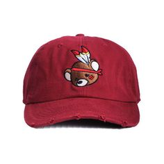 26256230b8b Nerdy Fresh The Chief Dad Hat in Distressed Maroon ( 32) ❤ liked on Polyvore