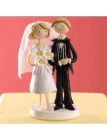 Feitos a mão, esse lindo casal vai levar um ar casual e intimista à sua recepção.