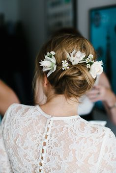 Contemporary Wedding at Wilton's Music Hall with Catherine Deane Gown Bridal Hair Down, Wedding Hair Down, Wedding Hair Flowers, Flowers In Hair, Wedding Day, Fresh Flowers, Wedding Dress, Asos Bridesmaid, Brides And Bridesmaids