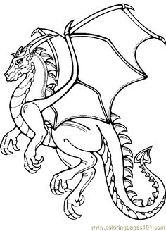 Dragon Coloring Pages Realistic | Coloring Pages Dragon Coloring Page 12 (Peoples > Fantasy) - free ...