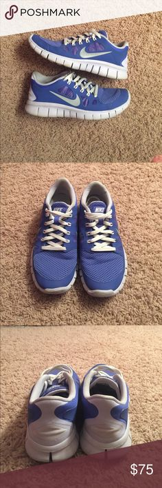 Nike Sneakers These rare size five Nikes have been barely used and are a rare periwinkle color! Nike Shoes Athletic Shoes
