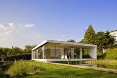 Ver fotografías de casas de una planta / un piso modernas y bonitas variadas, en diferentes formas de arquitectura    Ver fotografía de una ...