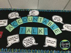 Using math talk or accountable talk in the math classroom is a great way to build classroom culture and create a climate for high level math thinking. Sixth Grade Math, Fourth Grade Math, 3rd Grade Classroom, Middle School Classroom, Science Classroom, Classroom Ideas, Second Grade, Classroom Design, Classroom Organization