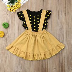 Dress Summer Pretty Dresses Casual Inspirational ✤od✤toddler Kids Baby Girl Summer Outfit Clothes Shirt tops Bib Strap Dress Casual Dress Outfits, Casual Summer Dresses, Girl Outfits, Summer Outfit, Dress Summer, Baby Girl Dress Patterns, Baby Girl Dresses, Baby Dress, Baby Girl Fashion