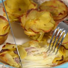 Baskets of potatoes with stringy fontina - A delicious appetizer, the baskets of potatoes with stringy fontina must be tasted at least once, as - Antipasto, Best Dinner Recipes, Fall Recipes, Vegetarian Recipes, Cooking Recipes, Healthy Recipes, Crockpot Lunch, Healthy Smoothies, Soul Food