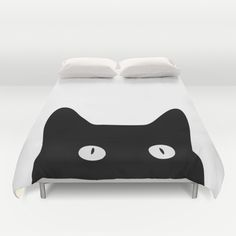 Buy ultra soft microfiber Duvet Covers featuring Black Cat by Good Sense. Hand sewn and meticulously crafted, these lightweight Duvet Cover vividly feature your favorite designs with a soft white reverse side.