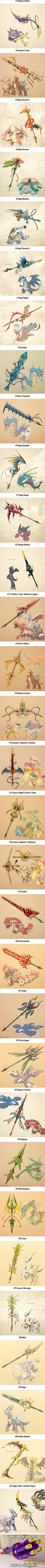 Artist Turns 31 Pokémon Into Poké-Weapon (By Rico Busalpa)
