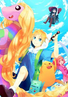 Adventure time - Anime Version :p Time Cartoon, Cartoon As Anime, Cartoon Shows, Real Anime, Cartoon Girls, Cartoon Characters, Marceline, Adventure Time Wallpaper, Adventure Time Anime