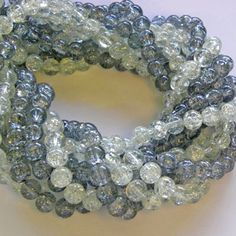 Special Sale Crackle Beads Silvers